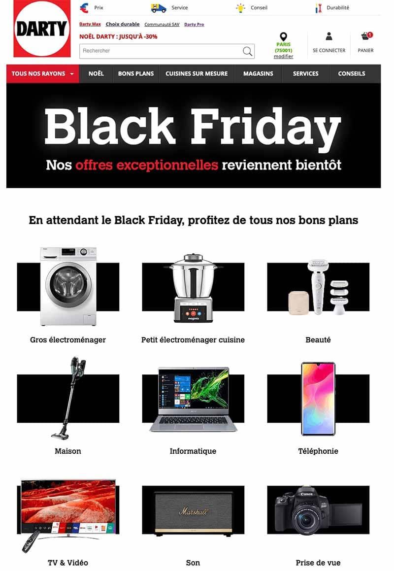 Black Friday Darty deals promo