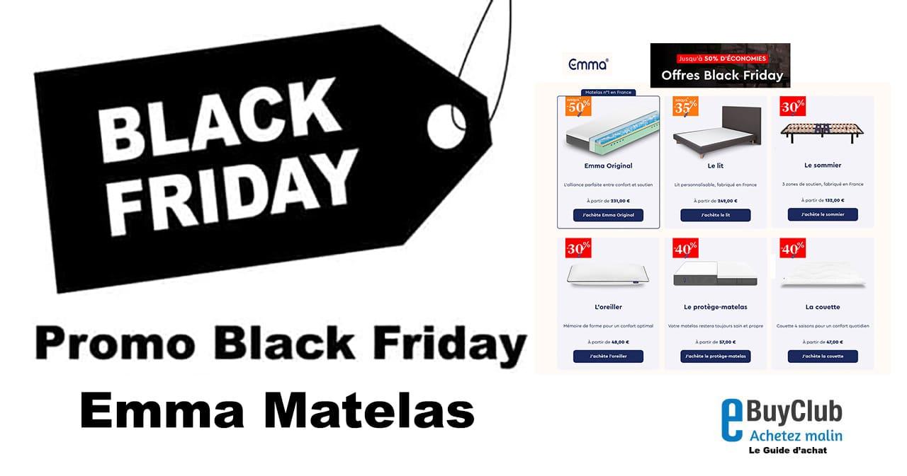 Black Friday Emma Matelas reduction 2021